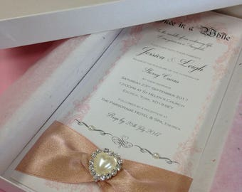 Boxed Fairytale Weeding Invitation
