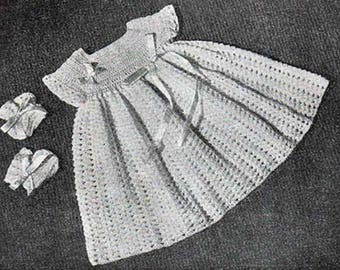 CROCHET Baby Dress- Special Occasion - HEIRLOOM