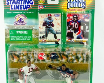 Starting Lineup NFL Classic Doubles Terrell Davis Georgia Denver Action Figure