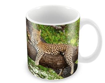Leopard  Ceramic Coffee Mug    Free Personalisation