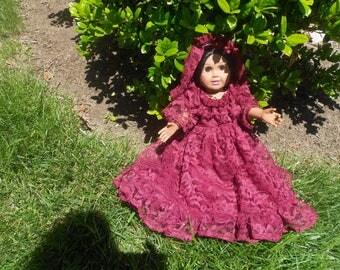 """Spanish Dress  and head matilla fits 18"""" doll"""