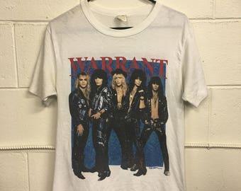 1988 WARRANT tour tshirt // size Medium