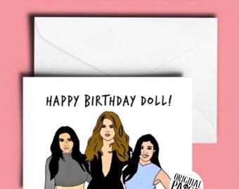 Kardashian birthday card