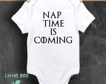 Game of thrones, GOT, Nap time is coming, Baby boy, Baby Onesie, New Baby, Baby shower gift, Funny baby onesie, Pregnancy gifts, Winter is