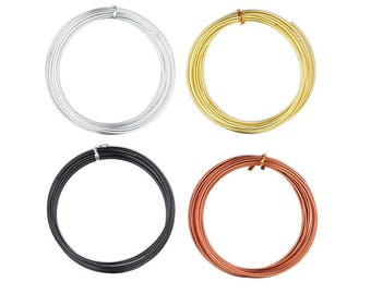 Round Wire anodized aluminum 10,12,14,16,18,20 gauge. Anodized aluminum wire round silver, gold,black,copper 10,12,14,16,18,20 gauge