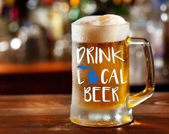 Drink Local Beer Michigan Mug Decal