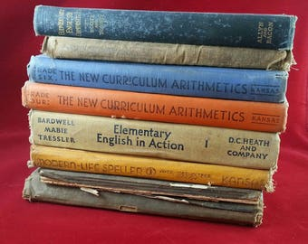 Vintage school books