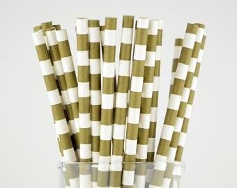 Brown Circle Paper Straws - Mason Jar Straws - Party Decor Supply - Cake Pop Sticks - Party Favor