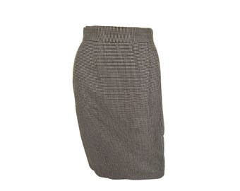 Vintage 80's Houndstooth Pencil Skirt