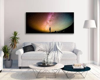 Astronomy Space Colourful Abstract Panorama Canvas Wall Art Picture Home Decor