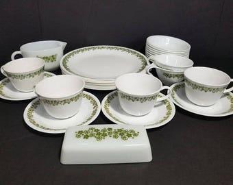 Vintage Corelle Pyrex Crazy Daisy Spring Blossom Dinnerware Set Plates Bowls