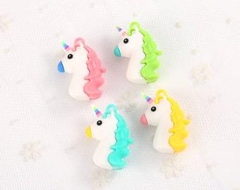 10pcs Unicorn Charms, Resin Charms, Kawaii pendants, DIY charms for bracelet, Unicorn necklace charms, Resin unicorn