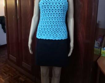 Crochetknit blouse