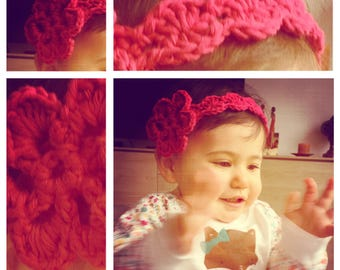 Crocheted Headband Flower