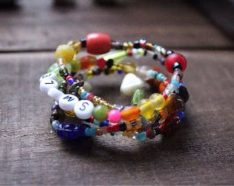 Smile On wrap bracelet