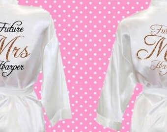 Bridal dressing gown | Etsy