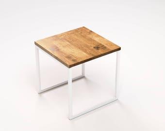 Square shaped small coffee table Light KUB (40x40x40cm)