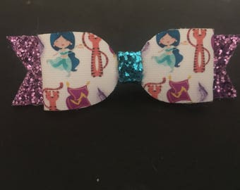 Medium Jasmin glitter bow