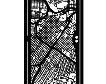 Decorative Urban Steel Gate - Steel Panel Art - Houston City Streets - Modern Urban Art - City Gate - Decorative Wall Panel
