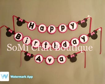 Minnie Mouse | Birthday Banner | Toddler Birthday | Minnie Mouse Decorations | Minnie Mouse Birthday | Mickey Mouse Clubhouse