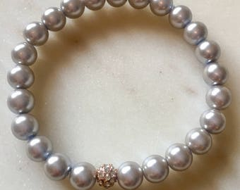 glass pearls beaded bracelet
