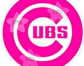 Chicago Cubs Ladies Logo Iron On Transfer