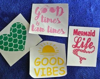 Beach Vinyl Decals