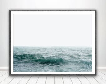 Ocean Print * Coastal Print Seascape Print Ocean Wall Art Coastal Wall Art Ocean Art Ocean Decor Ocean Poster Coastal Decor Ocean Waves Art