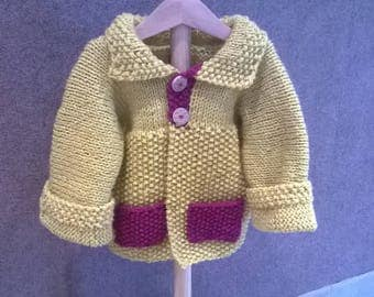 2 button coat or jacket 12 months girl wood