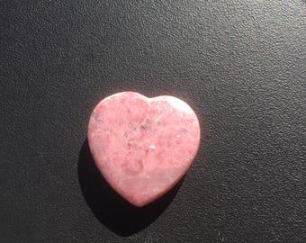 One (1) Heart Shaped Rhodonite Quartz