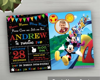 Mickey Mouse Clubhouse Invitations, Mickey Mouse Clubhouse Birthday, Mickey Mouse Clubhouse Party, Mickey Mouse Clubhouse Invitations