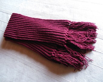 Mens knit scarf
