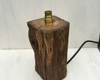 Oak base lamp