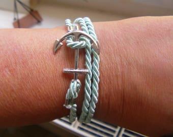 Bracelet triple towers twisted cord