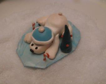 "Christmas toy in fimo ""polar bear"""