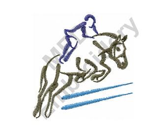 Horse Jump - Machine Embroidery Design