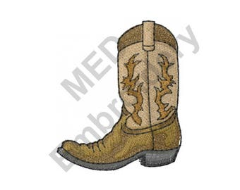 Cowboy Boot - Machine Embroidery Design