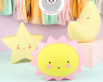 Sun Led Night Light For Kids Room And Decoration