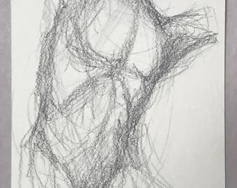 "Male Figure Gesture 5""x7"""