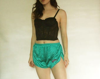 80s Turquoise Sport Shorts XS