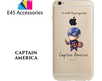 CAPTAIN AMERICA - Marvel Super Heros Hard Case for iPhone 5S 5 SE, iPhone 6S 6 or iPhone 7