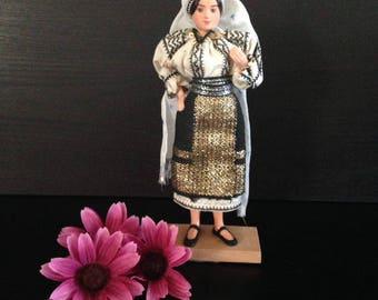 Vintage Handmade Romanian Doll