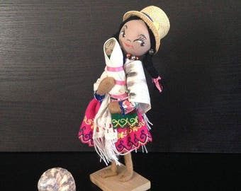 Vintage Al Bell's Doll World, handmade doll, Made in Equador