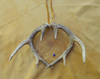 Hanging Deer Antler Dream Catcher