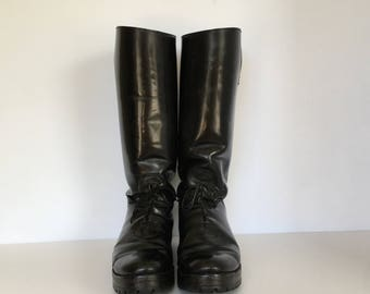 Motorcycle Boots US size 9.5EU size 43 Officer leather