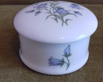 Small bluebell fine bone china Balfour of Scotland trinket box