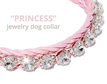 Small Dog Collar Jewelry/ girl dog collar Little Princess/cat collar/bracelet for you