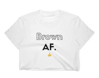 Brown AF Women's Crop Top
