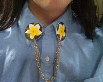 Hibiscus Collar Clips