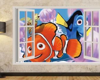 Finding Nemo Sticker, Kids Wall Mural, Wall Sticker Art Decal Mural 398A Part 77